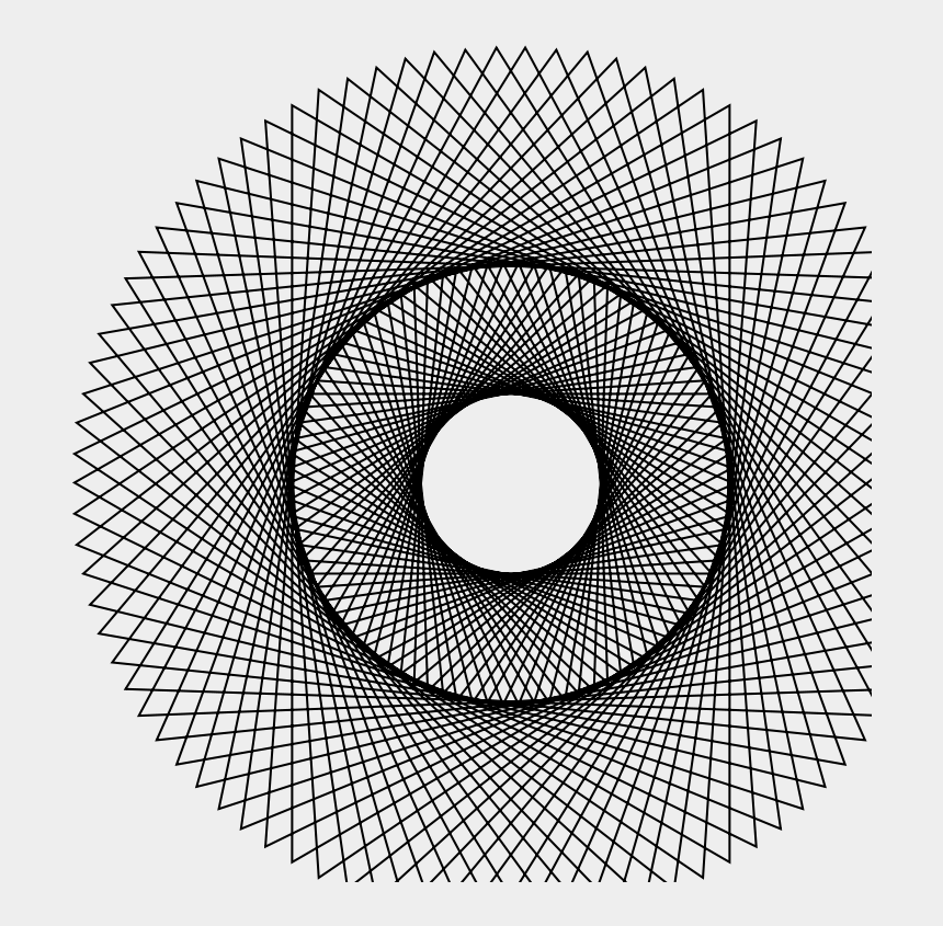 spirograph clipart, Cartoons - Free Rotatingtriangle Free Five Point Spirograph - Circle Made Up Of Straight Lines