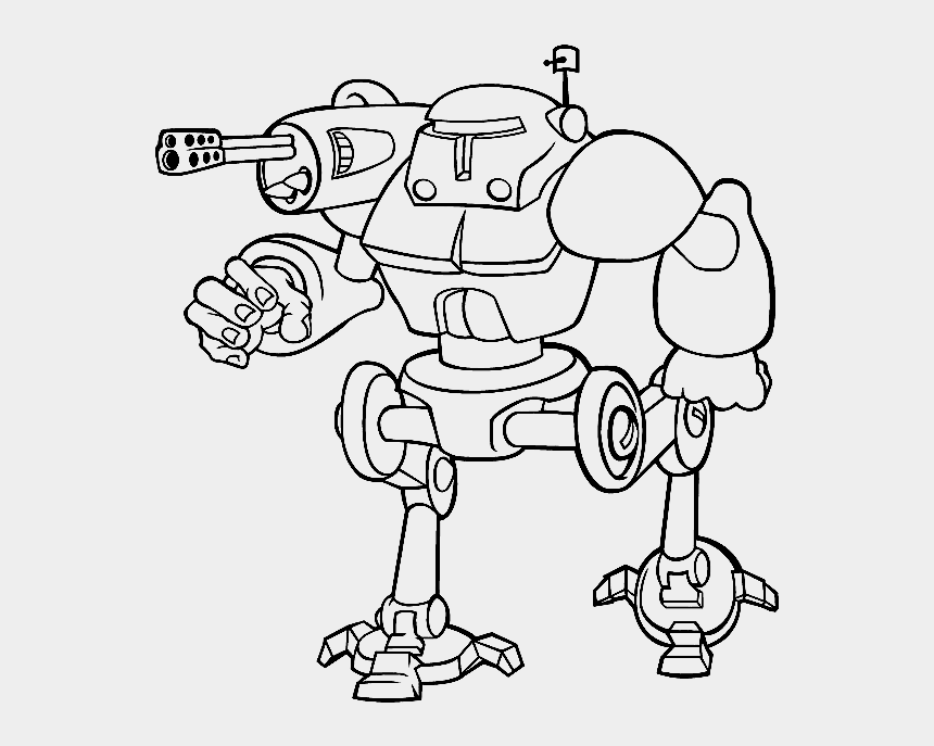 lemming clipart, Cartoons - Lemming Robots Coloring Pages - Free Coloring Pictures Robot