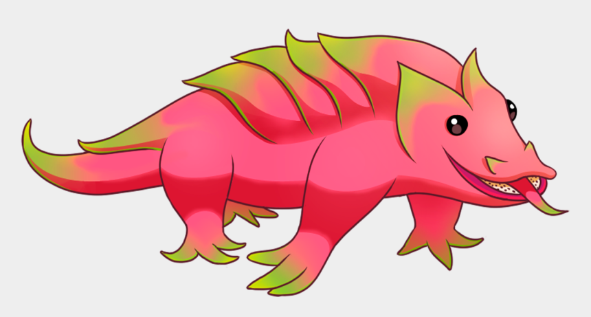 pink dragon clipart, Cartoons - Dragon Fruit Animated Clipart - Cartoon