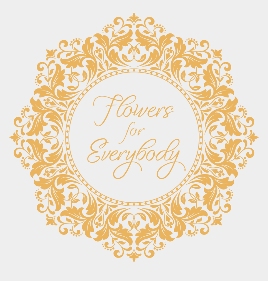 special delivery clipart, Cartoons - Flowers For Everybody - Gold Wedding Border Png