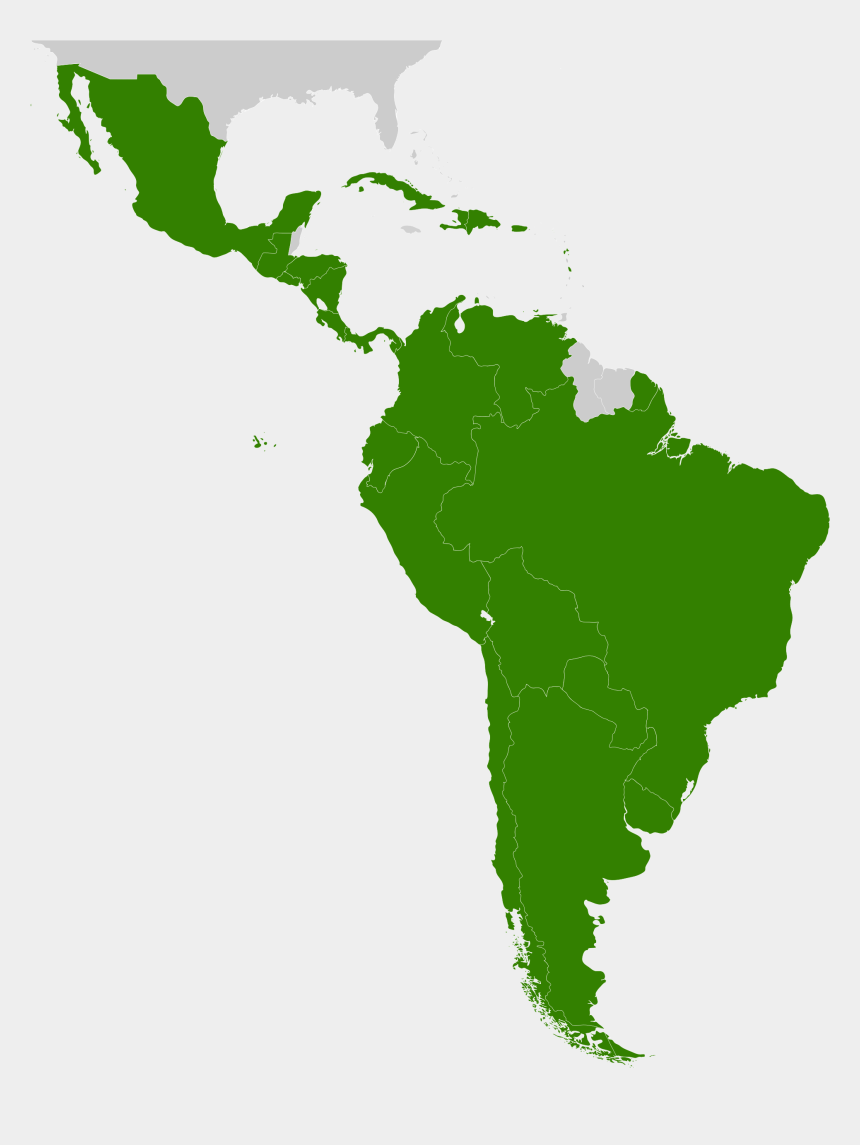 america outline clipart, Cartoons - South America Outline Png - Latin America Map Png