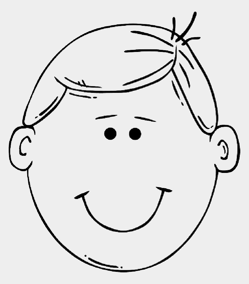 blank faces clipart, Cartoons - Blank Drawing Face - Boy Head Clipart Black And White