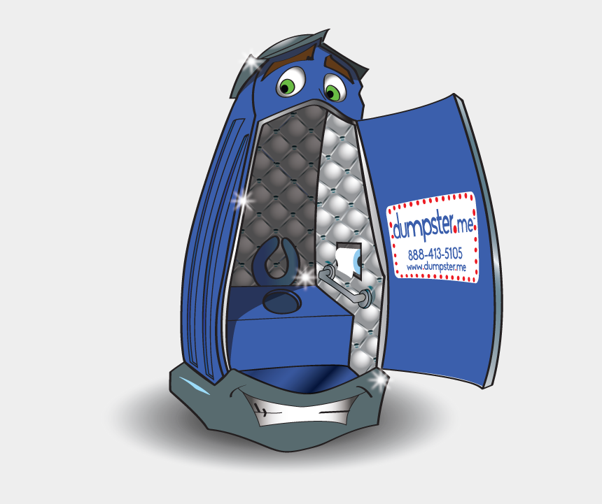 porta potty clipart, Cartoons - Free $25 Portable Toilet Rental Discount » Dumpster - Cartoon Bathroom Stall Transparent Bg