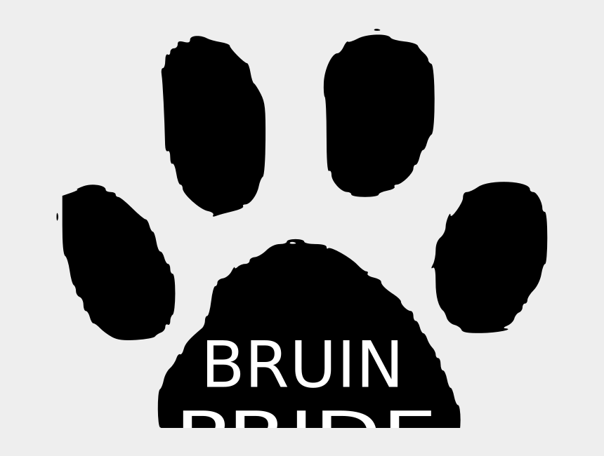 pride flag clipart, Cartoons - How To Set Use Bruin Pride Svg Vector - Dog Paw Print Green