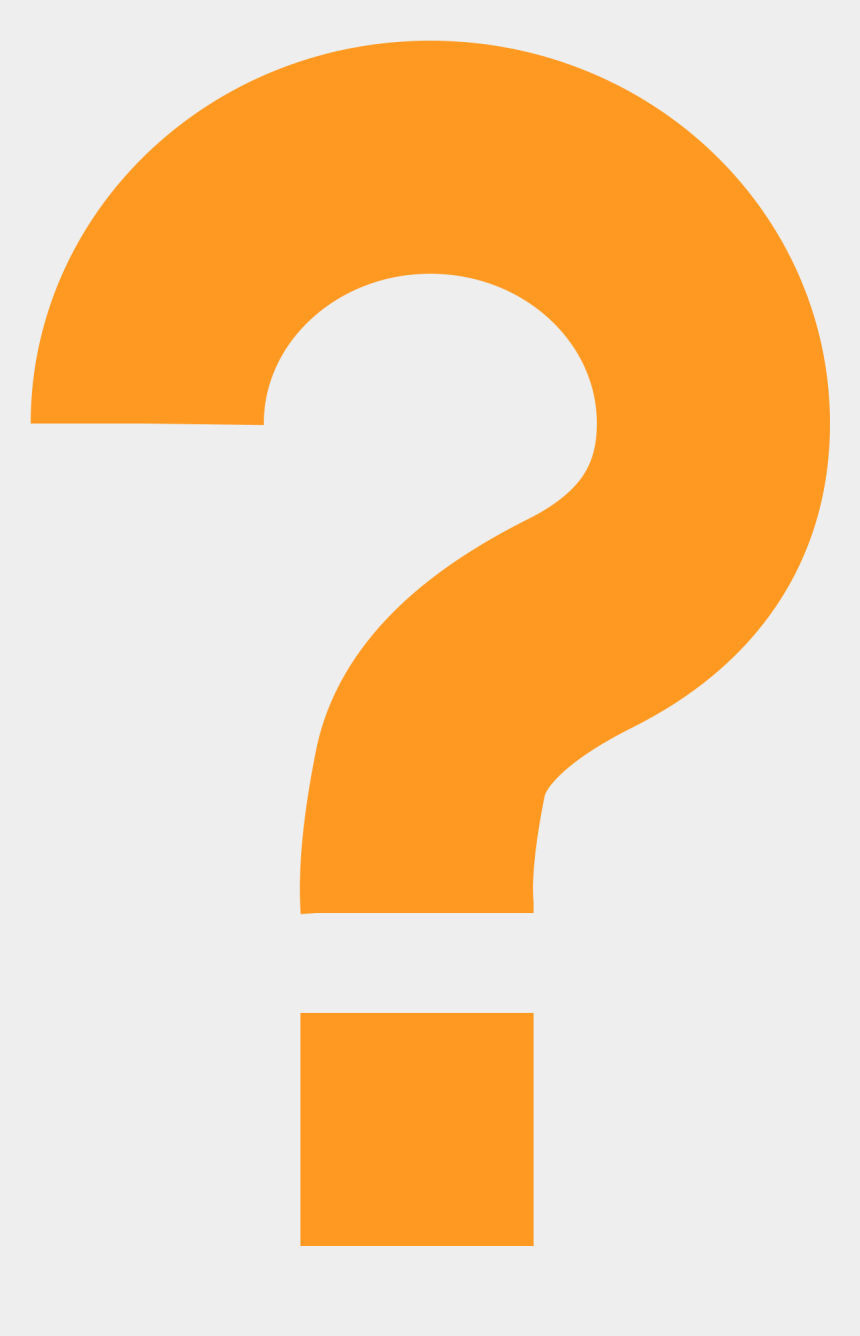 question mark clipart no background, Cartoons - Question Mark Png - Transparent Background Orange Question Mark