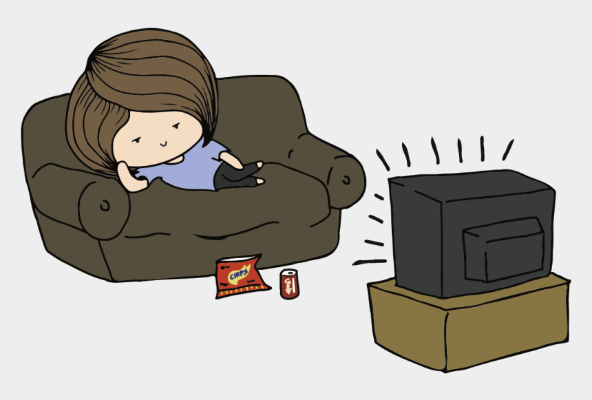 friends couch clipart, Cartoons - What Do You Do On Your Leisure Time Do You Hang Out - Watching Tv All Day Cartoon