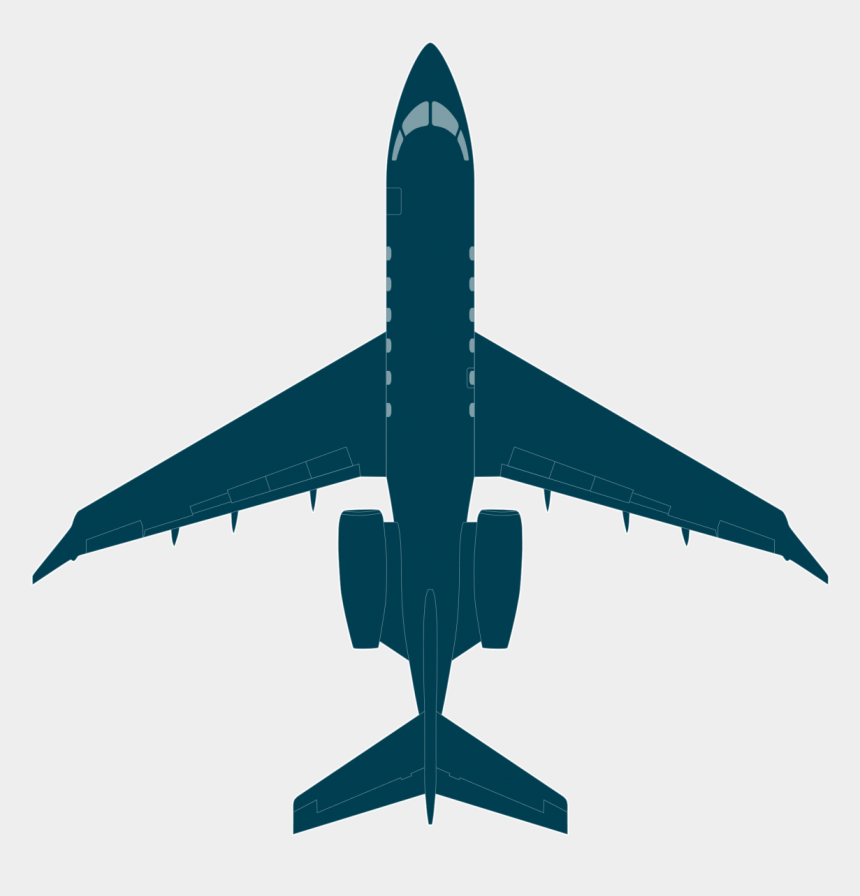 commercial airplane clipart, Cartoons - Drawing Airplane Passenger Plane - Challenger 350 Top View