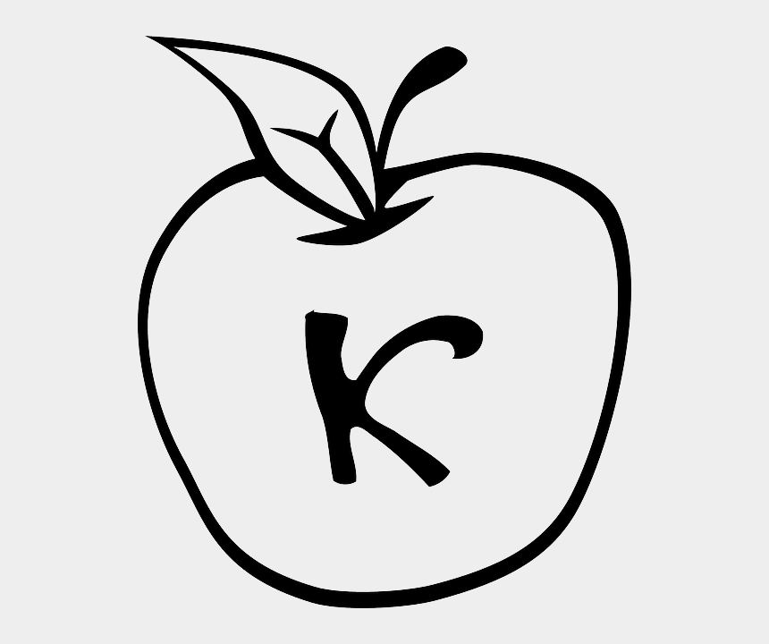 apple food clipart, Cartoons - Apple, Food, Fruit, Apples, Outline, White - Colouring Page Of Apple