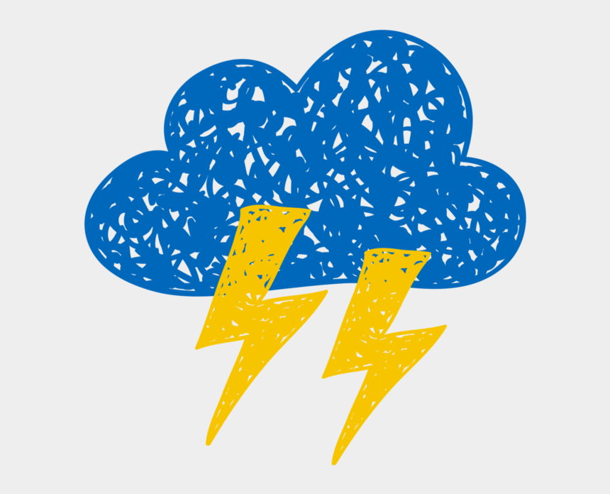 thunderbolts clipart, Cartoons - Cloud And Thunderbolts - Weather And Climate Drawing