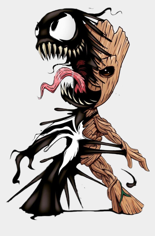 Groot Venom Art Sticker Baby Groot And Venom Cliparts