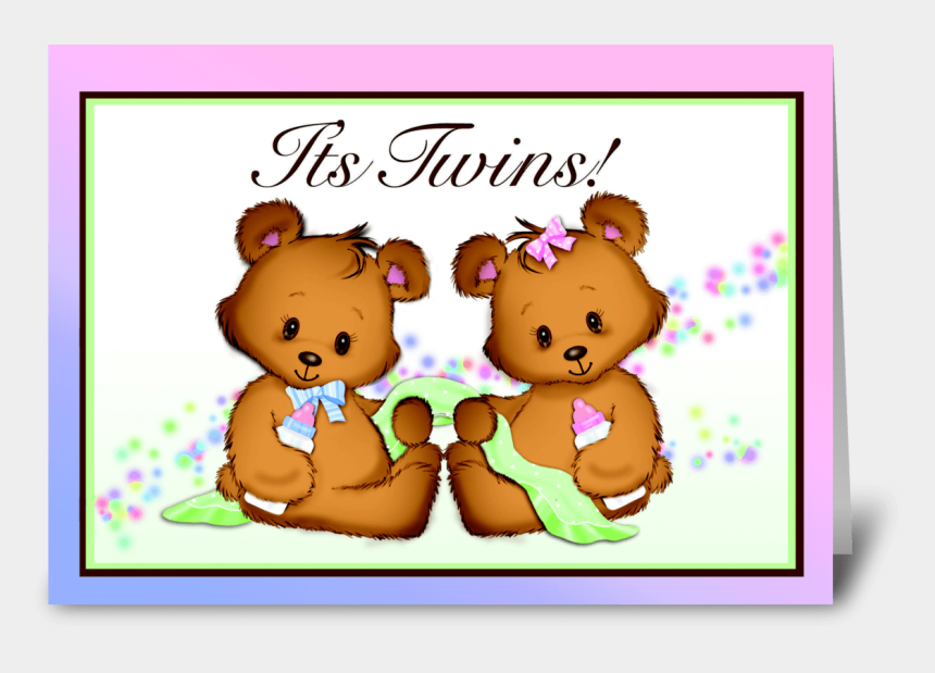 twin baby boys clipart, Cartoons - It's Twins Boy And Girl