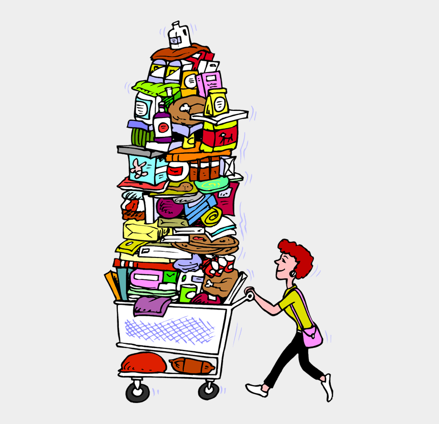 food pantry clipart, Cartoons - She Has Passed The Line While She Has Been Doing The - Do The Grocery Shopping