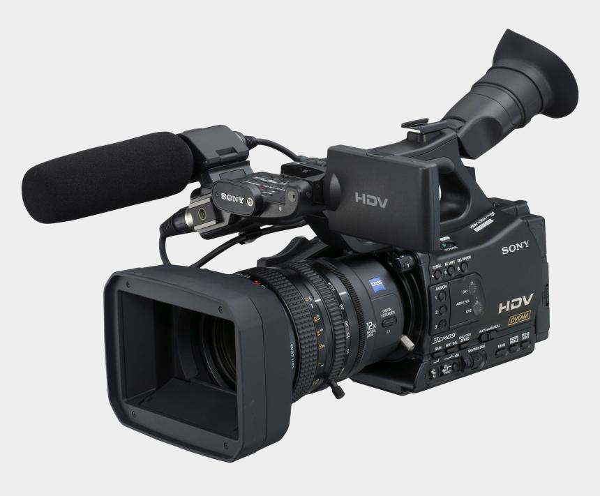 video camera clip art, Cartoons - Professional Video Camera Png File - Sony Hvr Z7u