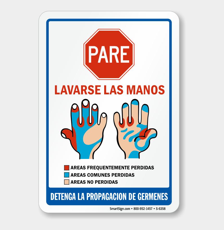 wash hands clipart, Cartoons - Spanish Hand Washing Sign - Hand Washing Signs Spanish