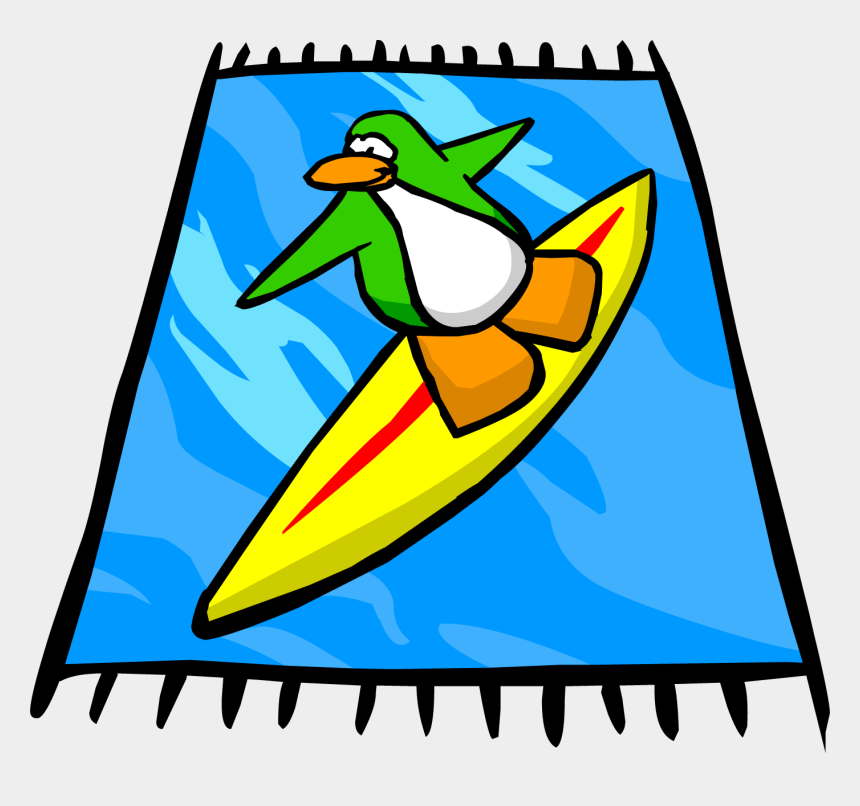 towel clipart, Cartoons - Surf Beach Towel Sprite - Beach Towel Clipart