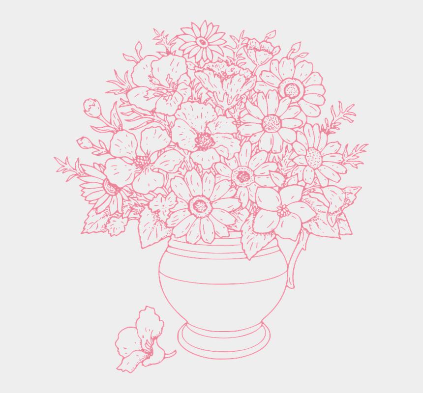vase clipart, Cartoons - Flowers Vase Flower - Vase Of Flowers Outline