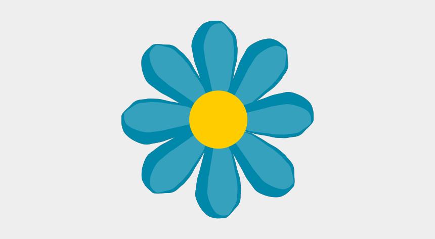 stem clipart, Cartoons - Blue Flower No Stem Svg Clip Arts 582 X 599 Px - Flower Clip Art