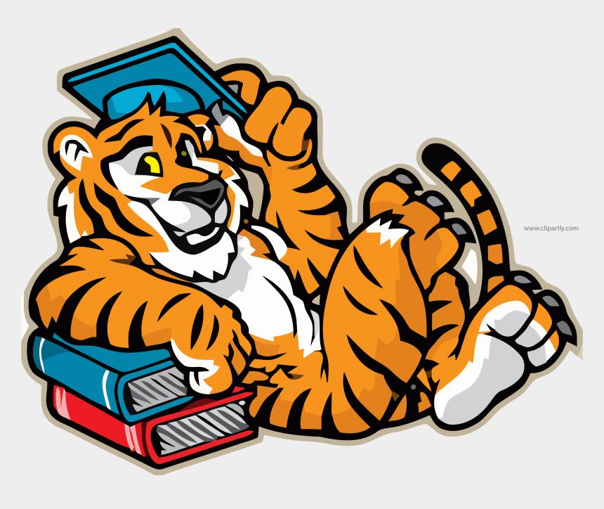 graduate clipart, Cartoons - Tigger Mascot Graduate Illustration Clipart Png Image - Elementary School Tiger Mascot