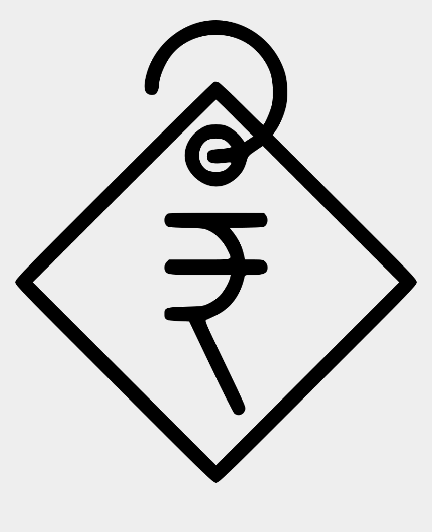 price tag clipart, Cartoons - Indian Rupee Currency Price Tag Sale Shopping Svg Png - Price In Rupees Icon