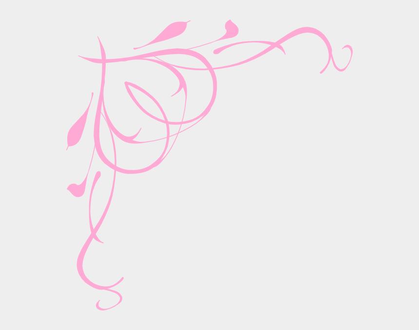 baby feet clipart, Cartoons - Heart Scroll Clip Art At Clker - Blue And Pink Border Design