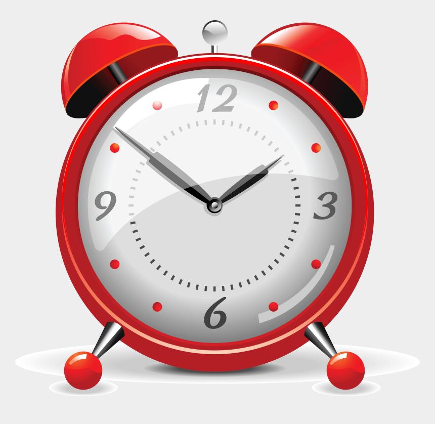 circle time clipart, Cartoons - Red Alarm Clock - Transparent Alarm Clock Vector