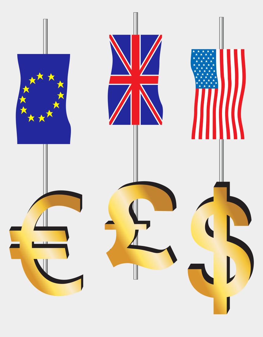 dollar signs clip art, Cartoons - Dollar Euro And Pound Sign