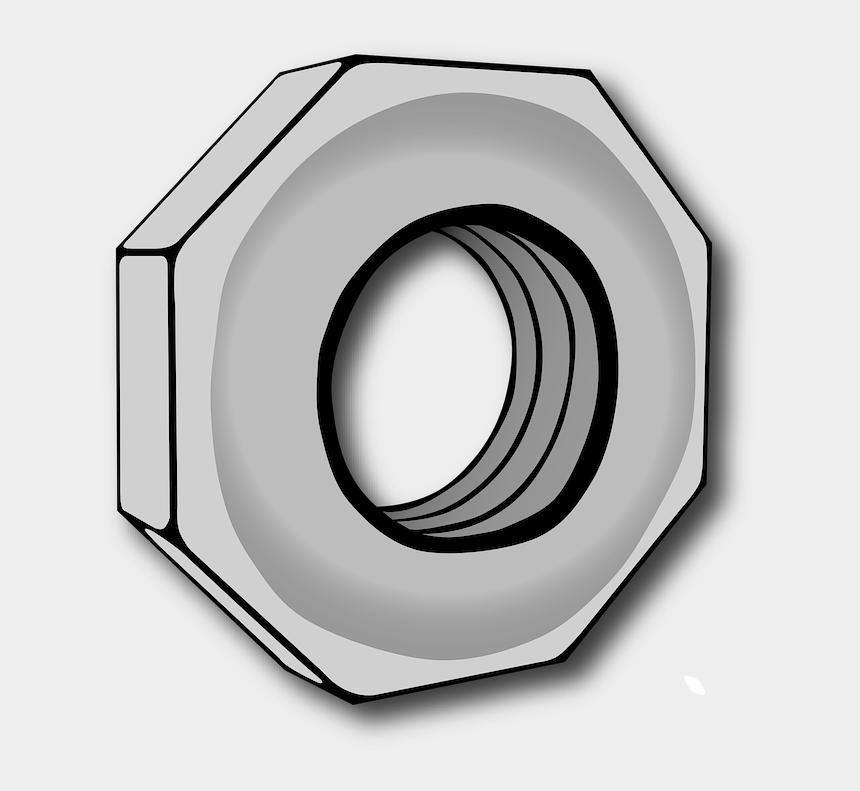 nut clipart, Cartoons - Nut Clip Art - Hex Nut Clip Art