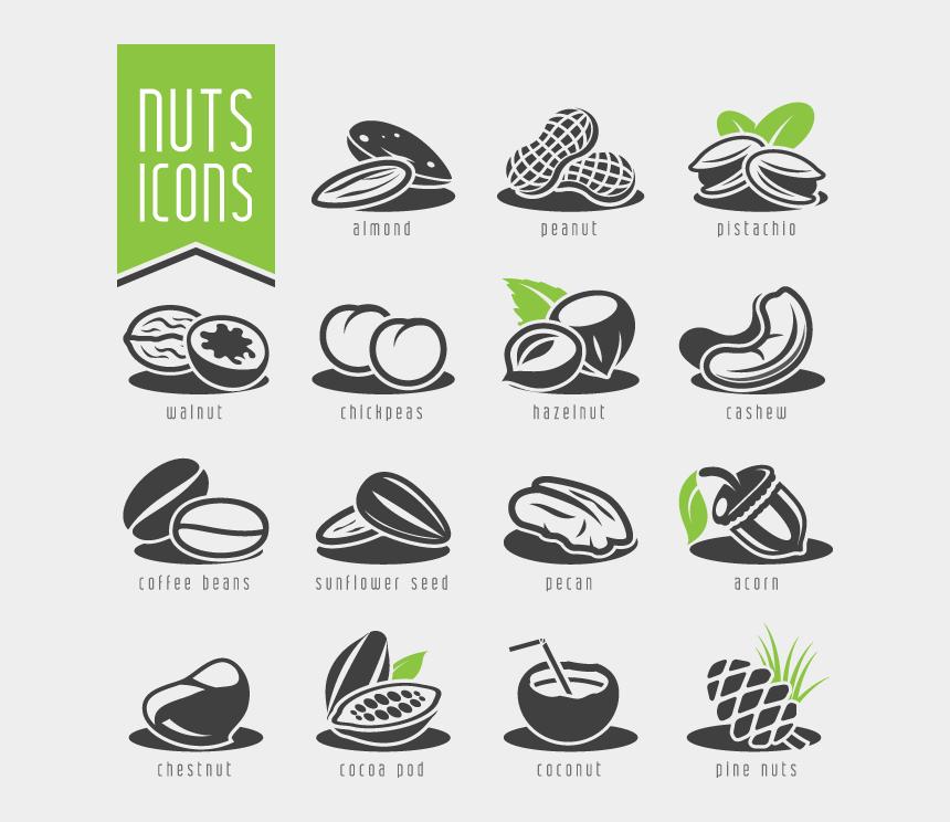 nut clipart, Cartoons - Dry Fruits Clipart Vector
