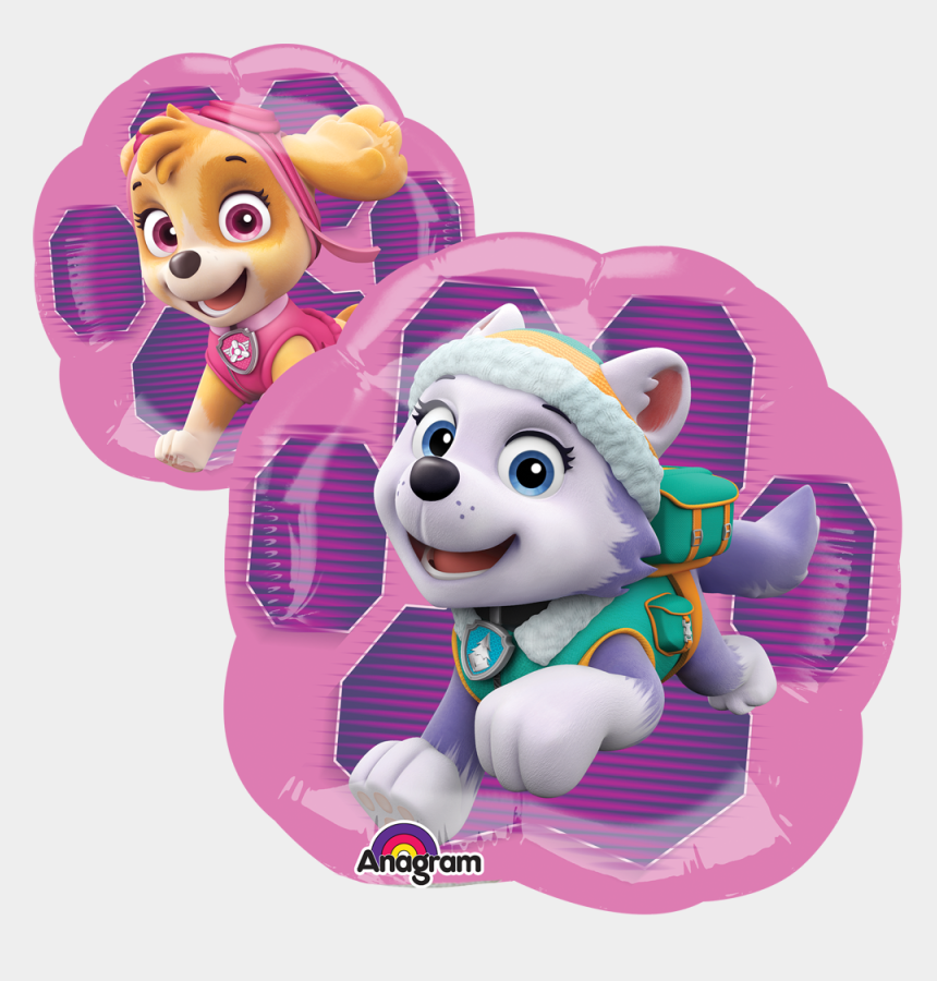 everest paw patrol clipart, Cartoons - Skye & Everest - Globos Metalicos De Skye Paw Patrol