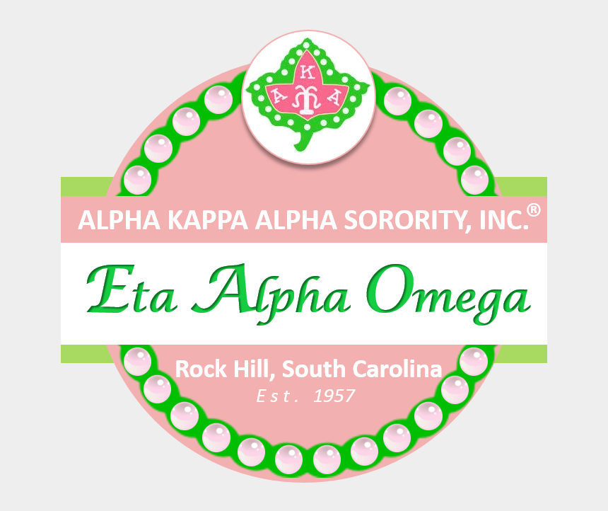 alpha kappa alpha sorority clipart, Cartoons - Eta Alpha Omega Chapter Rock Hill Aka - Label
