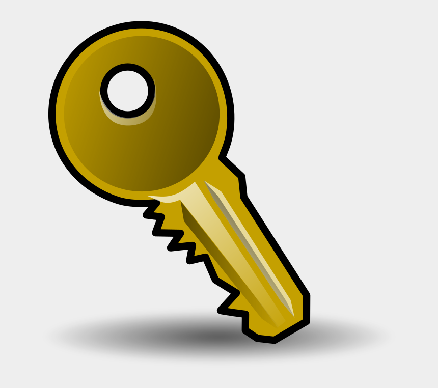 social security card clipart, Cartoons - Password Key - User Accounts Icon