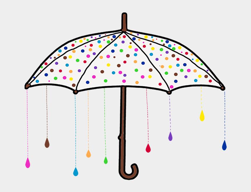 raining umbrella clipart, Cartoons - Colorful Rain Umbrella - Umbrella