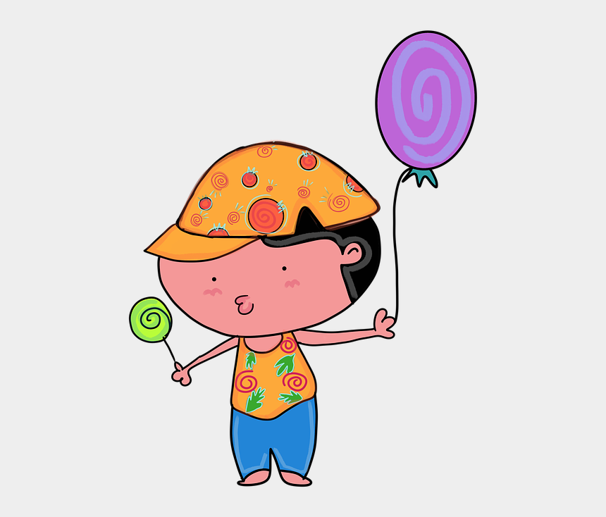 child with talking bubble clipart, Cartoons - Balloon Kids Boy The Speech Bubble Media Classes - Crianças Com Balão Png