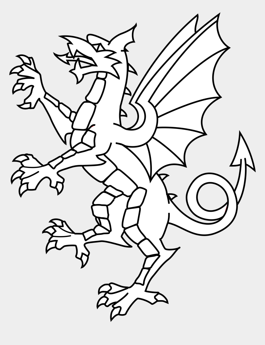 fire breathing dragon clipart black and white, Cartoons - Dragon Clipart Black And White - Shang Dynasty Dragon Drawings