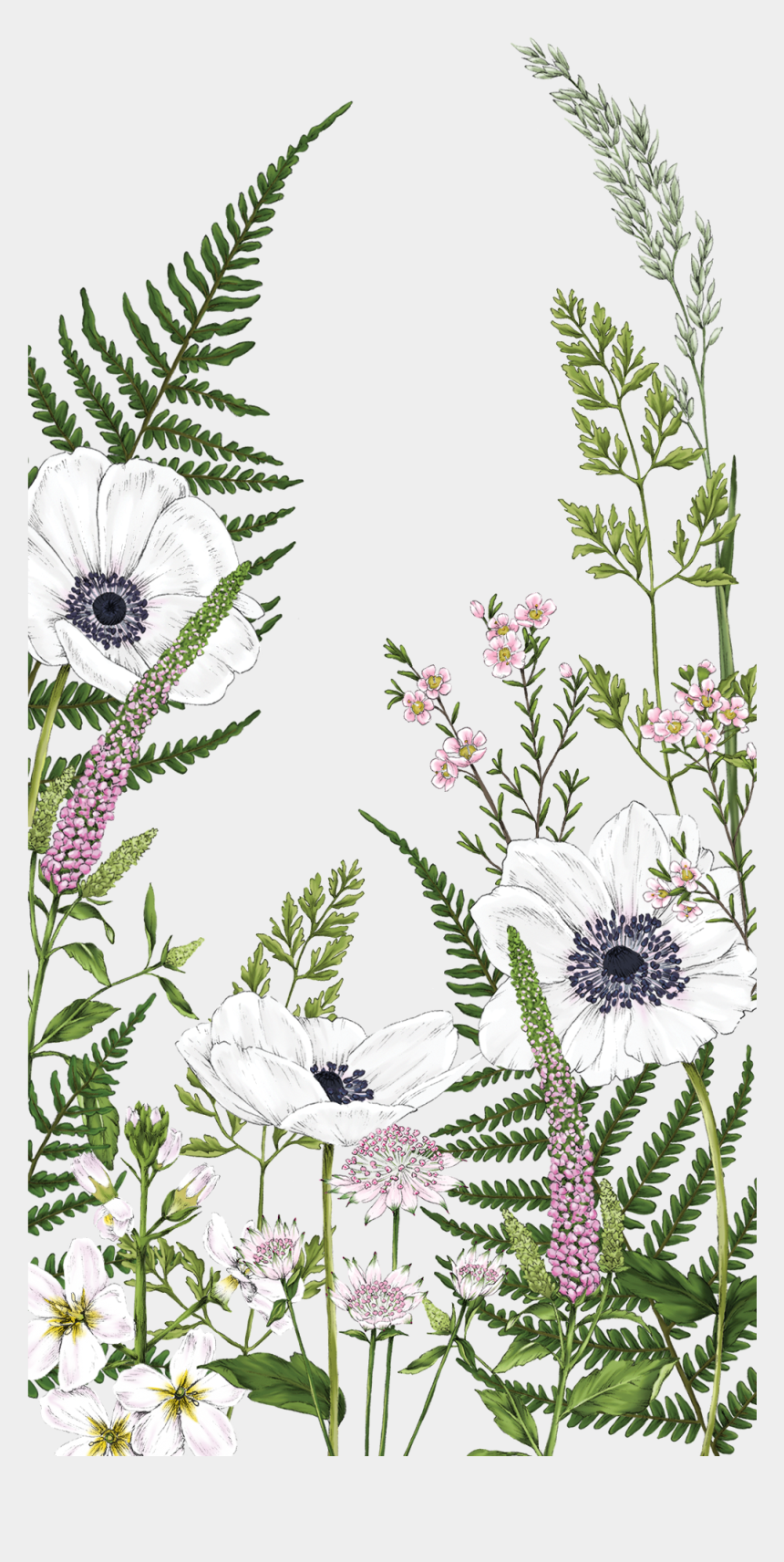 kate spade flowers clipart, Cartoons - #casetify #art #design #flowers #fern Wallpaper - Wildflower Drawing Wallpaper Iphone