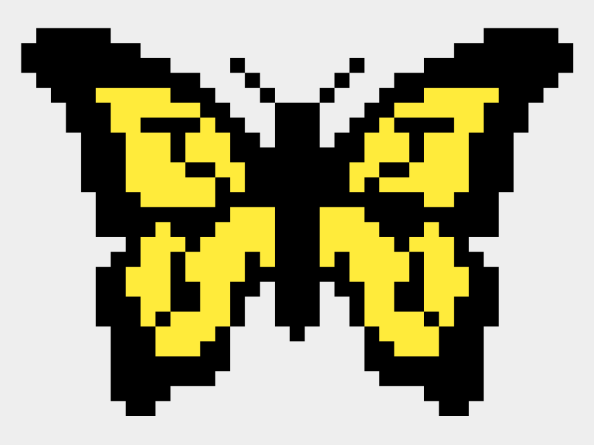 swallowtail butterfly clipart, Cartoons - The Tiger Swallowtail Butterfly - Butterfly Pixel Art Grid