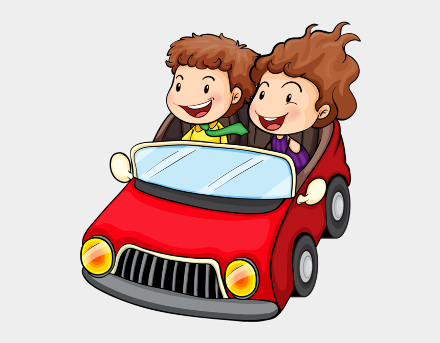 people in car clipart, Cartoons - Personnages, Illustration, Individu, Personne, Gens - Girl And Boy In A Car Drawing