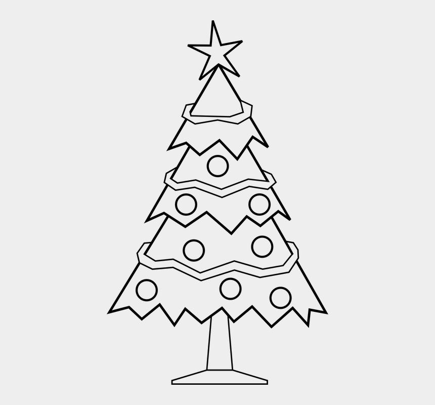christmas garland clipart black and white, Cartoons - Christmas Tree, Christmas Background - X Mas Tree Black And White