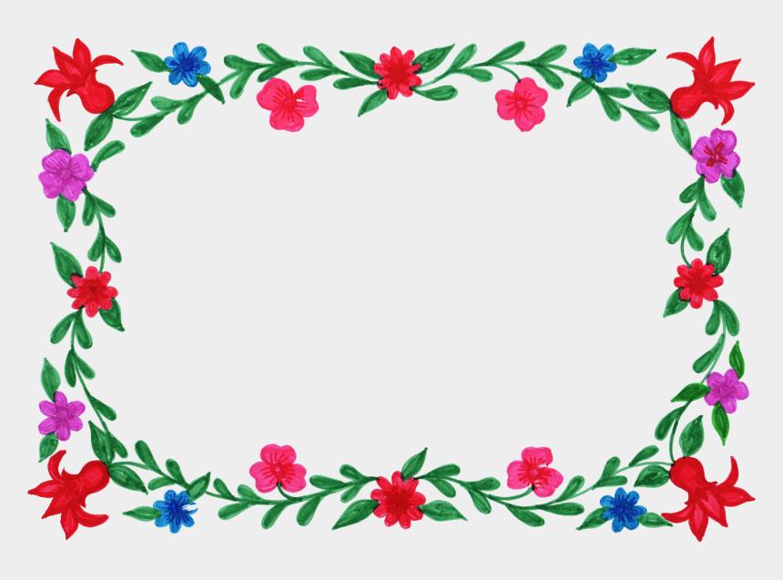 rectangular frame clipart, Cartoons - Flower Frame Colorful Png Transparent Onlygfx Ⓒ - Transparent Flower Frame Png