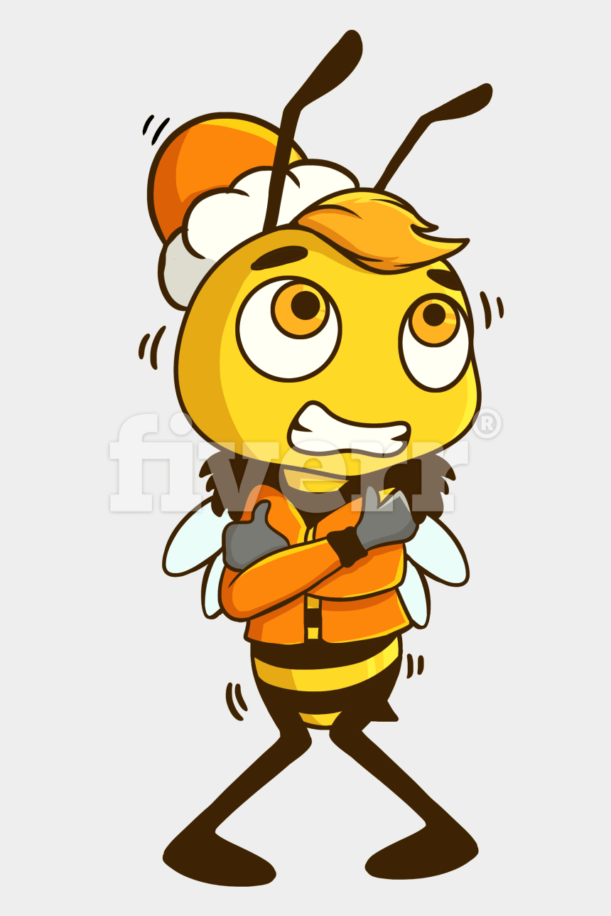 bee mascot clipart, Cartoons - Big Worksample Image - Illustration