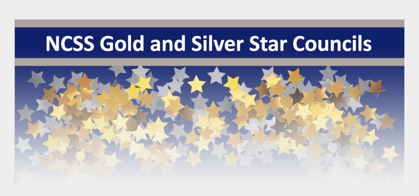 silver stars clipart, Cartoons - Gold And Silver Star Councils - Graphic Design