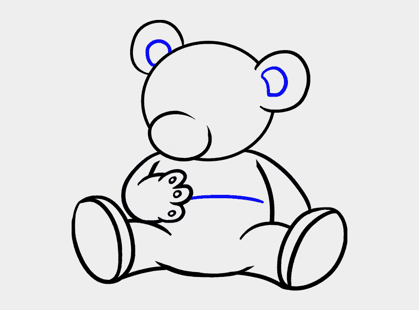 bear walking clipart, Cartoons - How To Draw A Cartoon Bear In A Few Easy Steps Easy - Cartoon Bear How To Draw