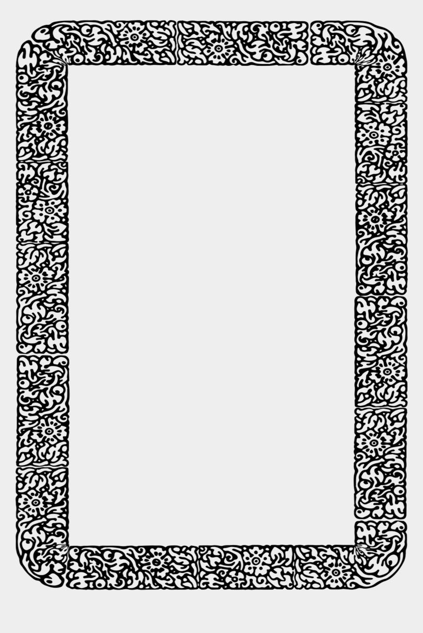 square vintage frame clipart, Cartoons - Border Floral Vintage Frame 1241719 - Paisa Status In Hindi