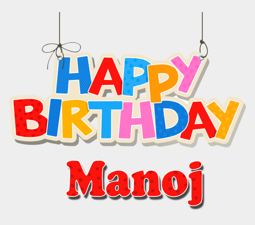 name banner clipart, Cartoons - Happy Birthday Name Png - Happy Birthday Manoj Image Hd