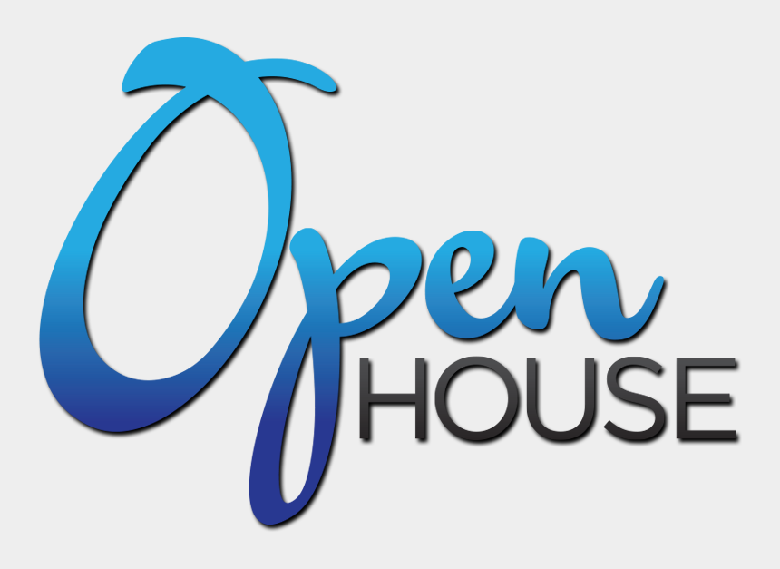 full house clipart, Cartoons - Open House Clipart , Png Download - Join Us For An Open House
