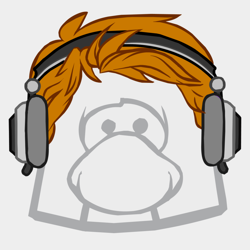 redhead girl clipart, Cartoons - Headphones Club Penguin Wiki - Club Penguin Earth Hat