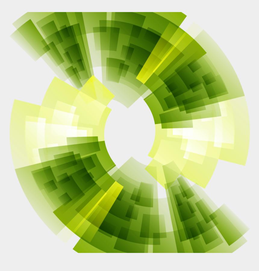 Euclidean Technology Green Line Background Vector Green
