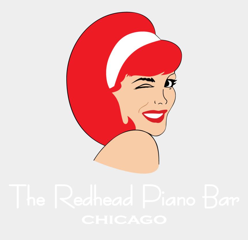 redhead girl clipart, Cartoons - The Redhead Chicago S - Red Head Piano Bar Logo