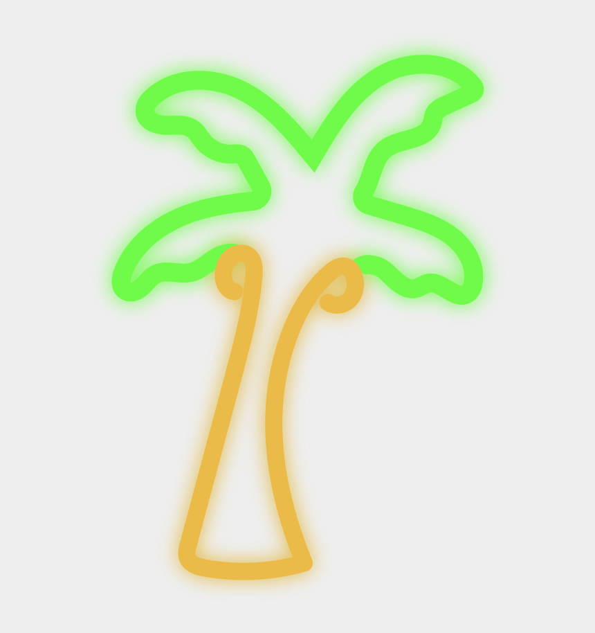 swimsuits clipart, Cartoons - Neon Palm Tree Png - Transparent Neon Palm Tree