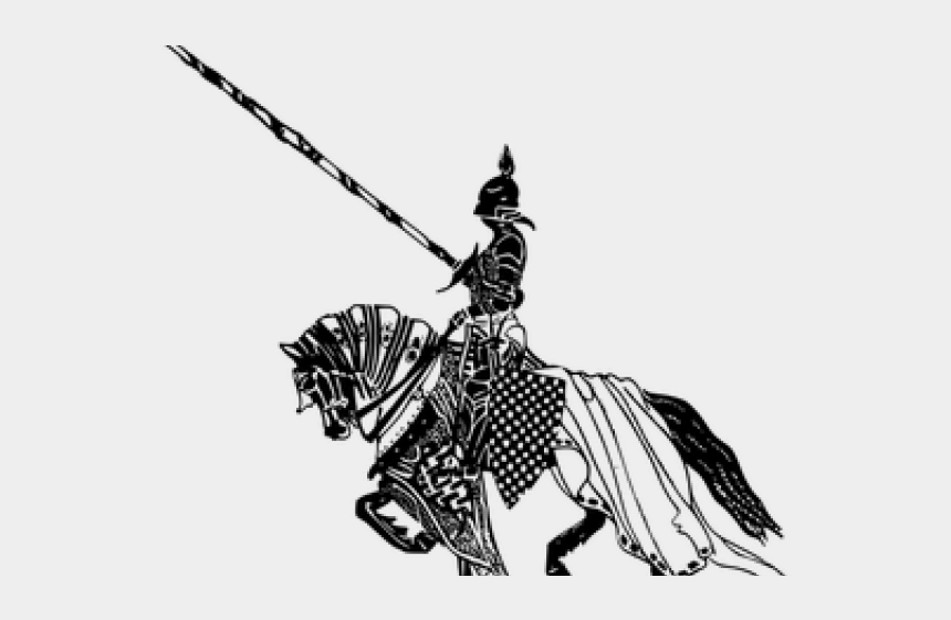 knight clipart png, Cartoons - Black Knight Horse Logo